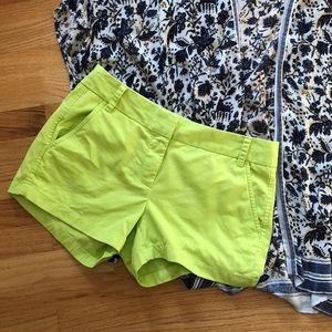 {J. Crew} Lime green chino shorts, 4